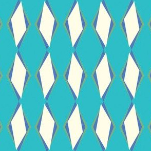 Retro Ziggy Diamonds Blue Curacao
