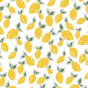 Summer lemons in yellow