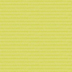 Dashed Stripe in Celery Green