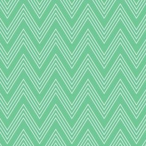 Ups & Downs Chevron in Teal