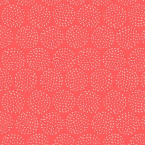 Dotted Circles in Coral Red