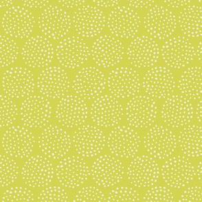 Dotted Circles in Celery Green