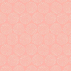 Dotted Circles in Rose Pink