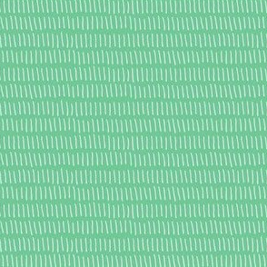 Dashed Stripe in Teal