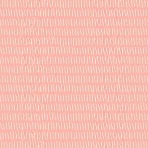 Dashed Stripe in Rose Pink