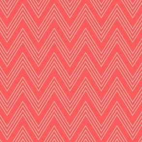 Ups & Downs Chevron in Coral Red