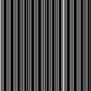 Steampunk Barcode Stripe in white