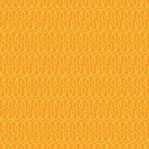 Curly Cues in Citrus Orange
