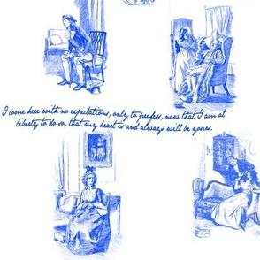 Sense and Sensibility Toile Blue