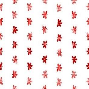Tiny Naupaka Red on White 150