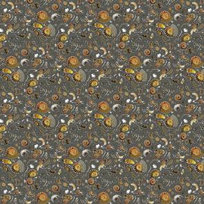 Limestone  extra ammonites in  grey SMALL