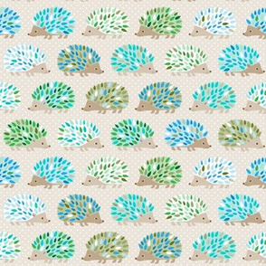 Hedgehog polkadot - small blue