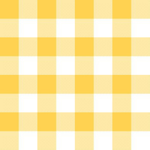 """Yellow and white 1"""" gingham check"""