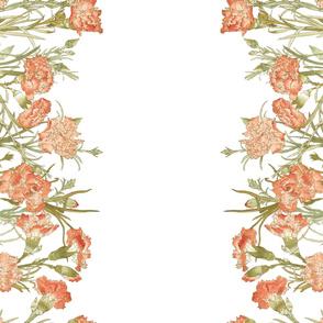 "Carnation Border Print ~ Double Border 42"""