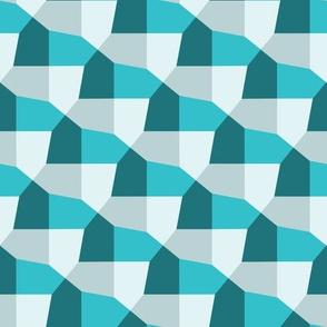 Geometric pentagonal pattern