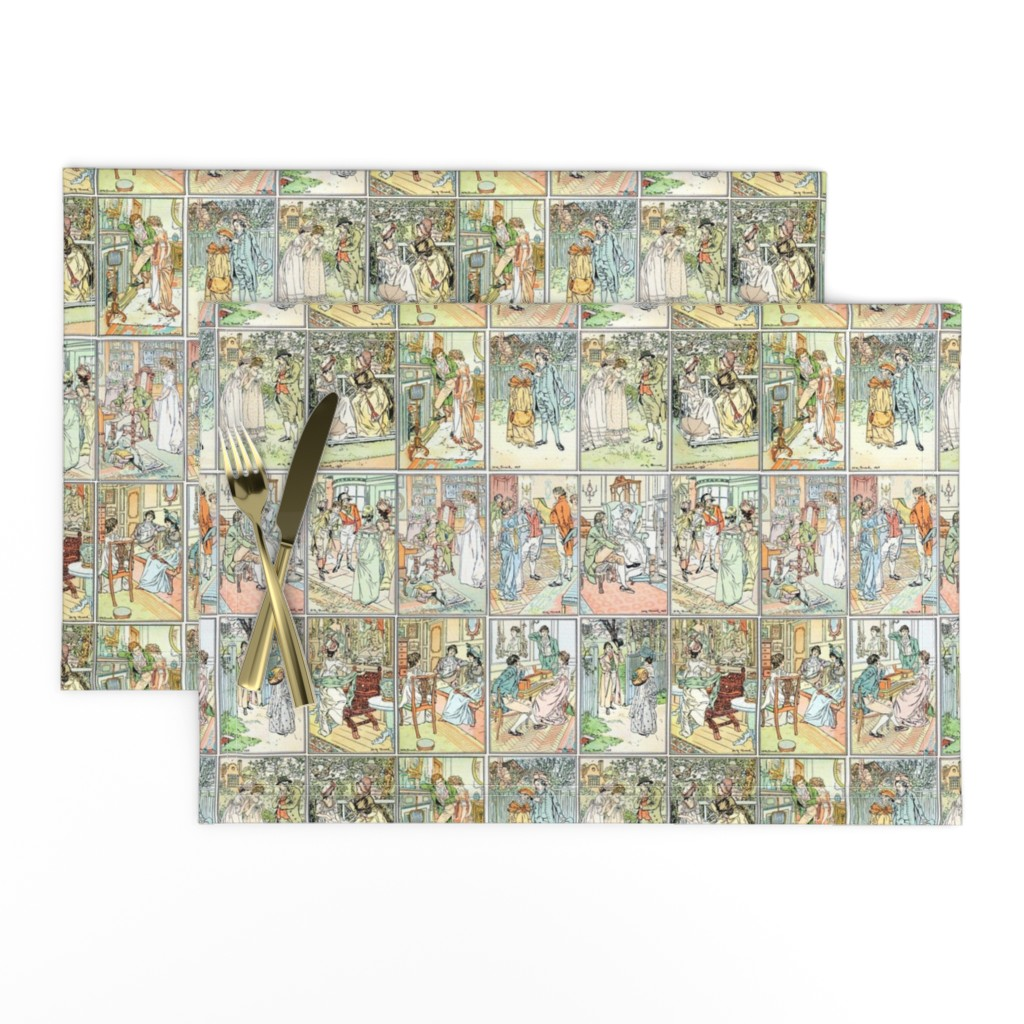 Lamona Cloth Placemats featuring HM Brock Pride and Prejudice by abucksworth