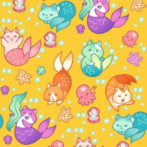Cat Mermaids Gold