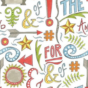 hand drawn typographical pattern
