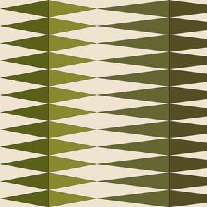 green triangles on cream