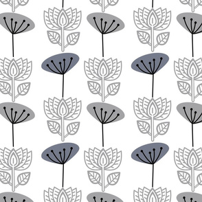 steel lotus and seedhead