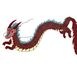 Fantasy Dragons on White