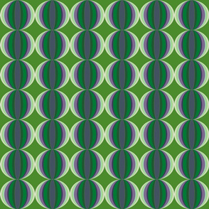 small wave in green and purple