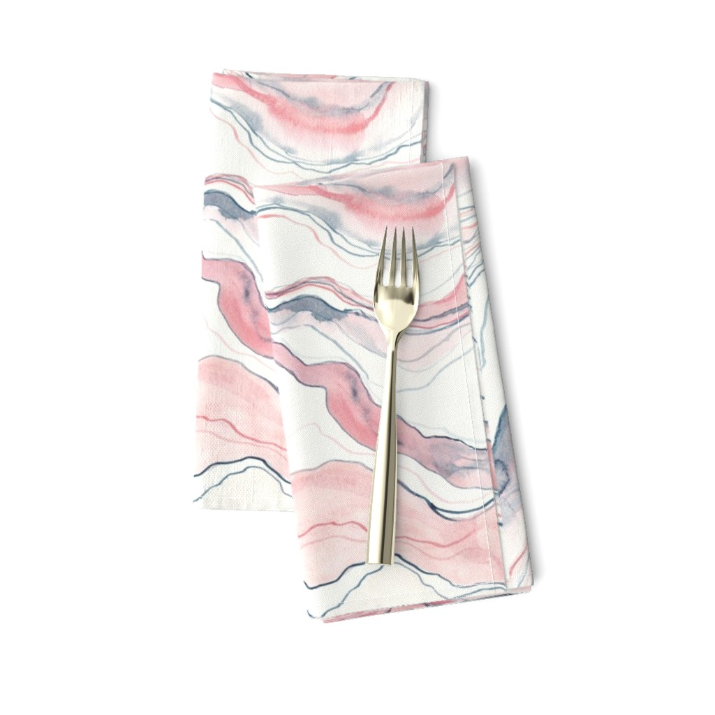 Amarela Dinner Napkins featuring Watercolor marble by rebecca_reck_art