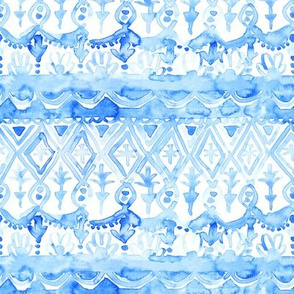 watercolor tapestry pattern