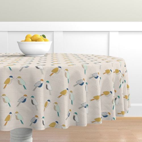 Colorful Fabrics Digitally Printed By Spoonflower Mid Century Modern Birds