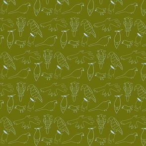 Friendly Flock (Olive)
