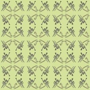 Praying Mantis & Bird (Lime)