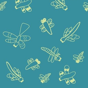 Dragonflies (Turquoise)