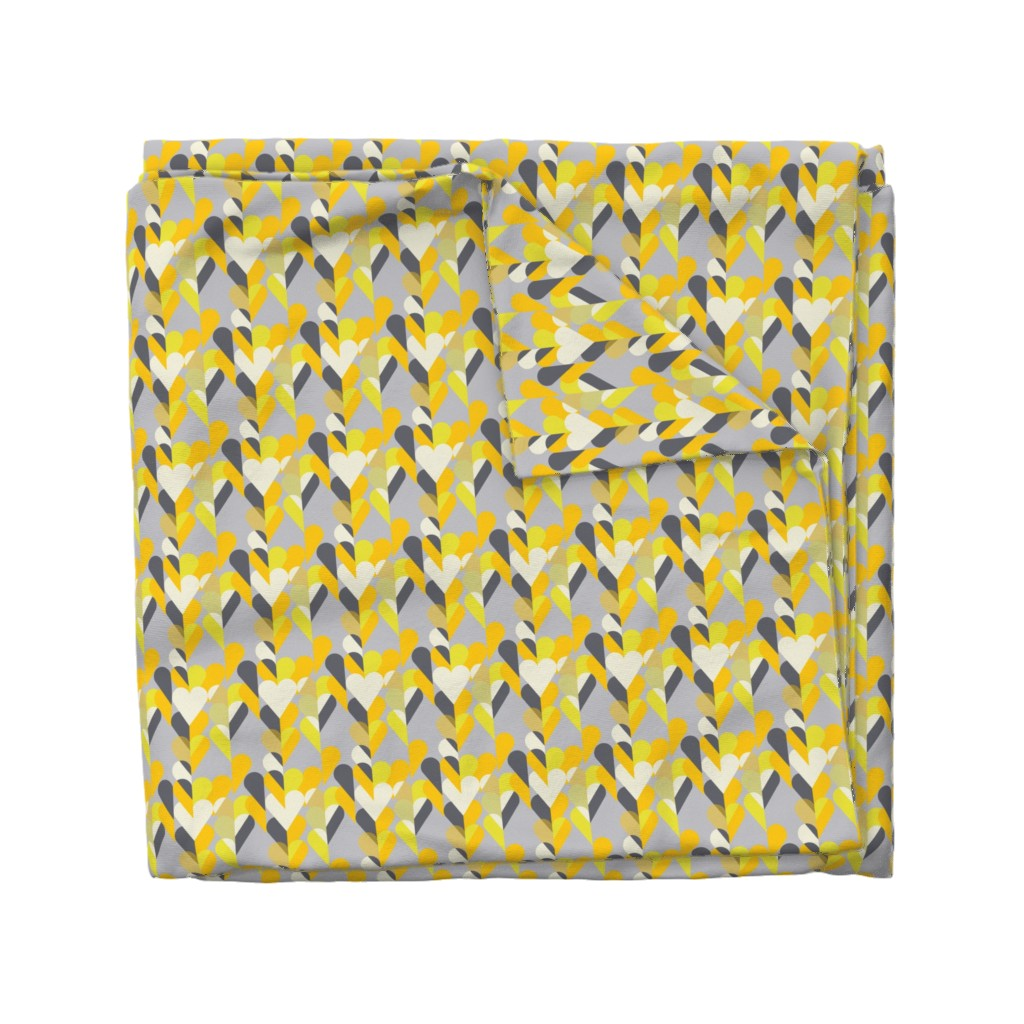 Wyandotte Duvet Cover featuring Heart of the Matter - Citron Dream 2 by alchemiedesign