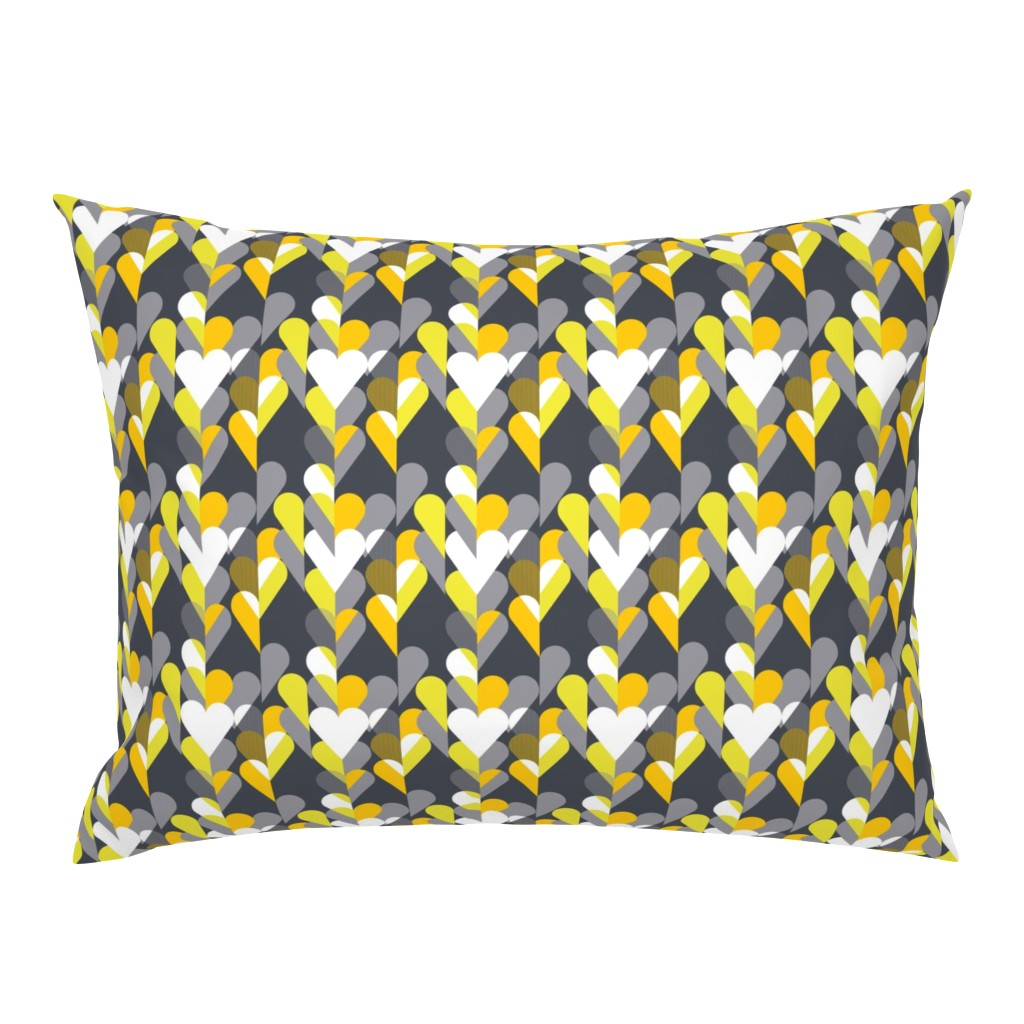 Campine Pillow Sham featuring Heart of the Matter - Citron Dream 3 by alchemiedesign