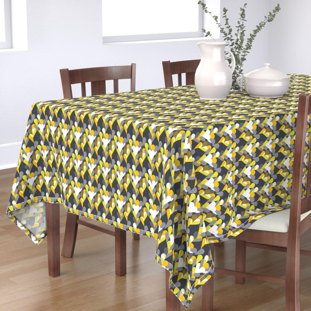 Bantam Rectangular Tablecloth featuring Heart of the Matter - Citron Dream 3 by alchemiedesign