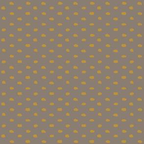 Cappucino Mustard Painty Polka Dot