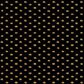 Black Mustard Painty Polka Dot