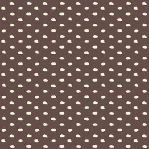 Brown and Cream Painty Polka Dot-ch