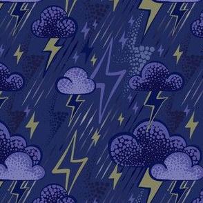 Lightning - Dark blue