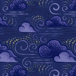 Wind - Dark blue