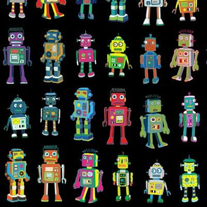 Robot Line-Up - on Black