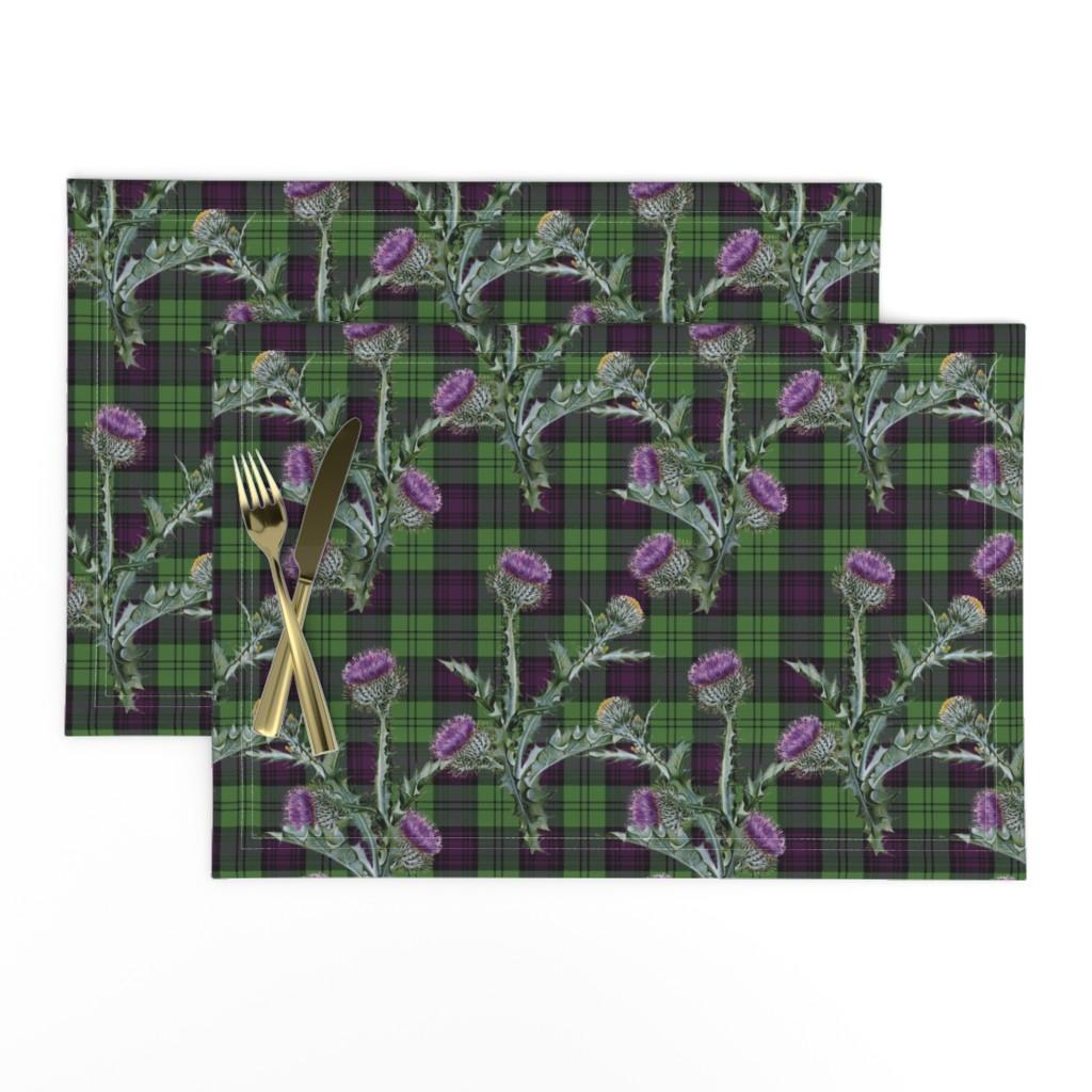 Lamona Cloth Placemats featuring Feochadan Tartan by lilyoake
