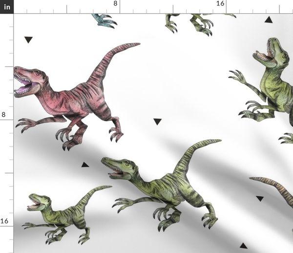 Raptor Dinosaurio Spoonflower Eso es en gran parte. spoonflower