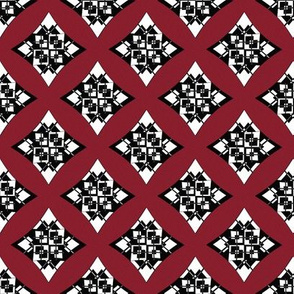 Geometrical Circles Squares Triangles Red White Black