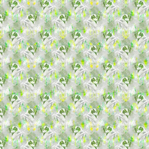 Watercolor Pug chevron - yellow/green