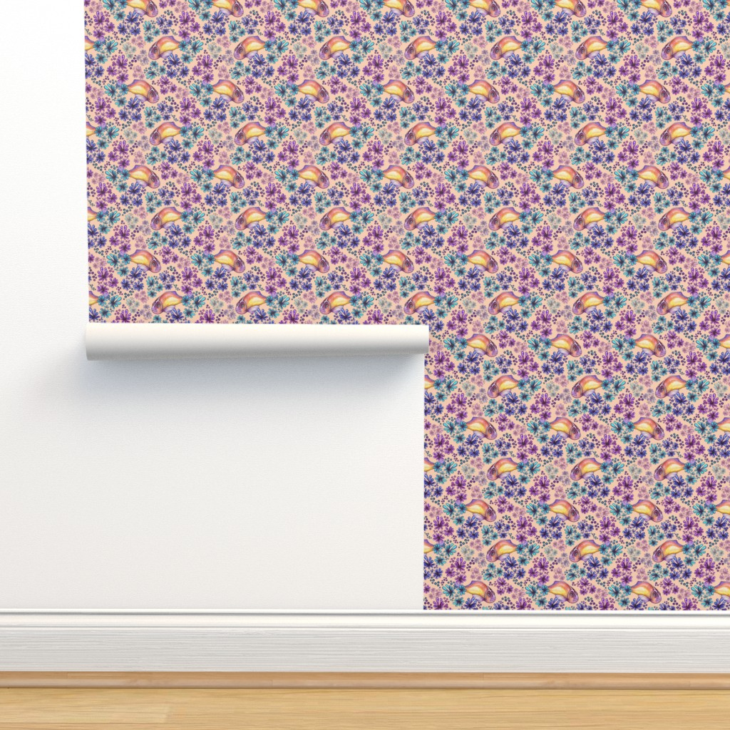 Isobar Durable Wallpaper featuring Coral Anemone Fish by christinemay