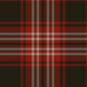 "Tweedside red district tartan, 6"" muted"