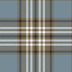 "Tweedside hunting tartan, 6"" weathered"