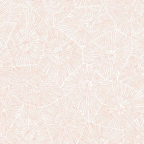 large petoskey stone pattern - peach on white