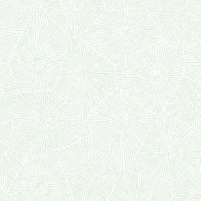 extra-large petoskey stone pattern - cucumber on white
